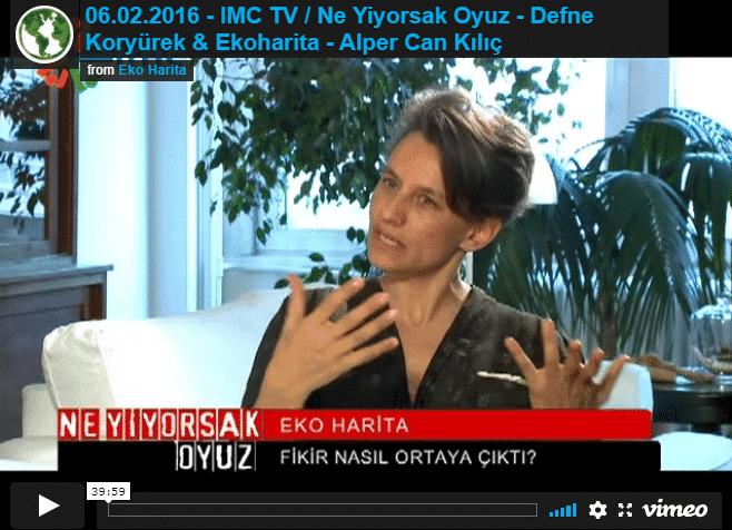 06.02.2016 – IMC TV / Ne Yiyorsak Oyuz – Defne Koryürek / Ekoharita – Alper Can Kılıç