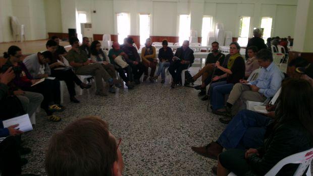 """""""Katılımcı Gıda Topluluklarında Sorunlar ve Çözümler"""" Çalıştayı'nın kolaylaştırıcısı Güneşin Aydemir"""