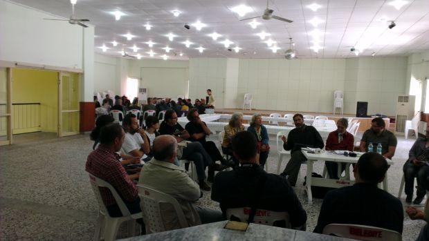 Bayramiç Belediyesi Düğün salonunda iki çalıştay (Katılımcı Gıda Toplulukları'nda sorunlar ve çözümler ile Kurak Ekosistemlerde Meyvacılık) eş zamanlı olarak gerçekleşti