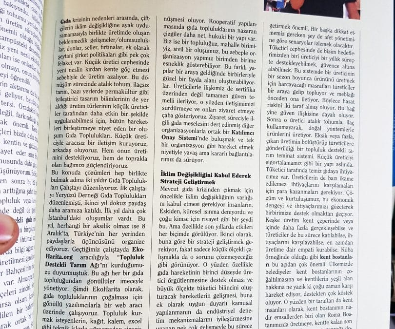 """01.12.2018 – EKOIQ Dergisi – Alper Can Kılıç – """"Temizlenmemiz Gerek"""""""