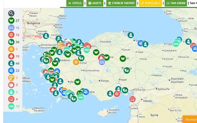 Ekoloji Haritası 200 Noktaya Ulaştı!